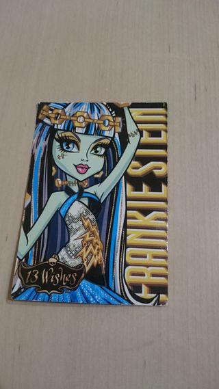 Tarjeta Muñeca Frankie 13 Deseos Monster High