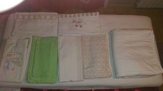 colchon maxicuna +6 juegos de sábanas mas 2 cubre