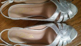 sandalias fiesta plata