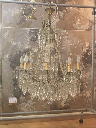 Lámpara de cristal italiano