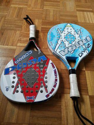 2 raquetas de padel