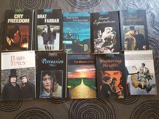 10 libros en inglés.