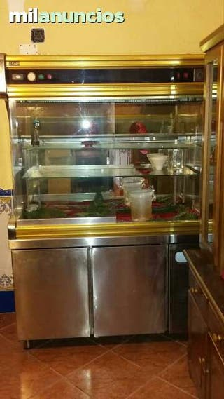 Cámara frigorífica con espositor.