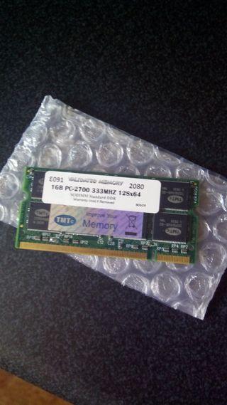 Módulo 1Gb RAM PC-2700 para portátil