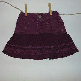 falda morada Zara 3 años