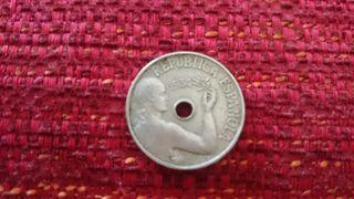Moneda de 25 centimos. 1934