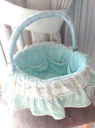 cesta mimbre bebe