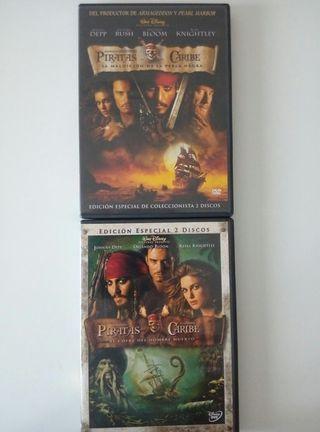 2 DVD X Piratas del Caribe