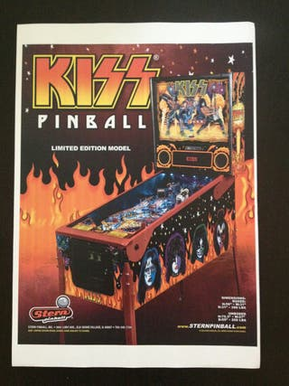 Maquina recreativa Pinball Kiss.