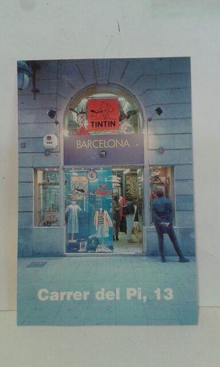 Postal TINTIN Barcelona
