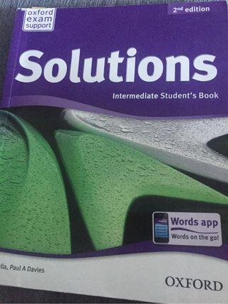 "Libro inglés ""Solutions"" Intermediate"