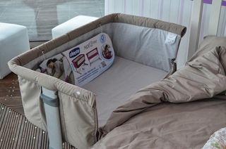 Cuna Next2me+juego de cama