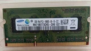 2GB (1x2GB) PC3 10600S 1333Mhz SODIMM