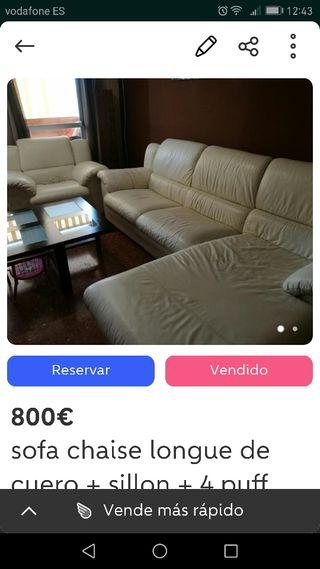 sofa de piel bajado de precio 650