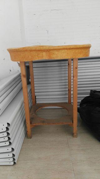 Mesa de madera de segunda mano por 10 en moncada wallapop for Wallapop mesas