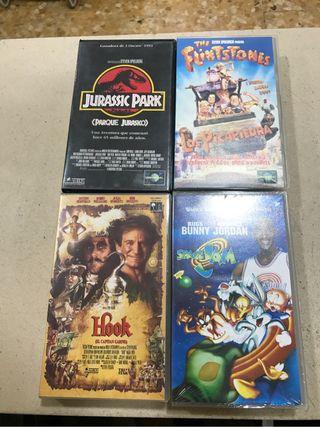 4 peliculas VHS