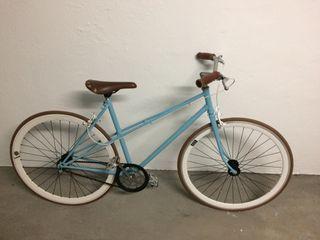 Bicicleta fixie de paseo