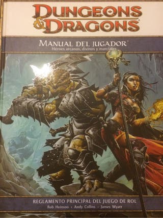 Manual de Jugador Dungeons & Dragons 4.0 (Rol)