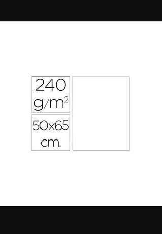cartulina 240gm blanca 65 x 50 cm