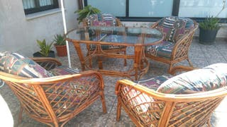 conjunto sillas y mesa de terraza