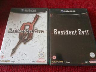 resident evil y resident evil 0 gc nintendo