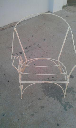 silla hierro para jardin