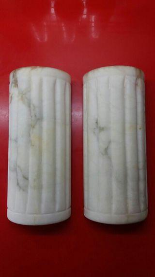 Pareja de apliques de alabastro