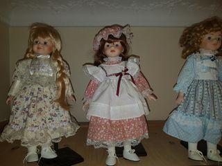 Tres Muñecas porcelana