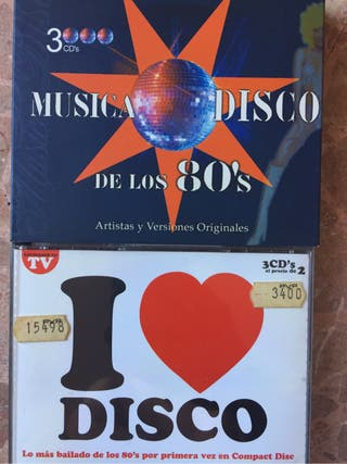 Recopilatorios musica disco