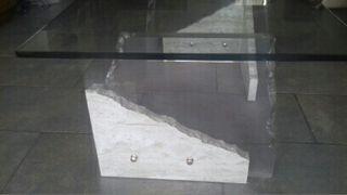 Mesa Centro de cristal y marmol