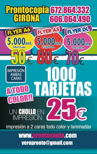 5000 flyers a color ambas caras