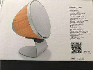 NUEVO - Altavoz de Bluetooth y lámpara LED
