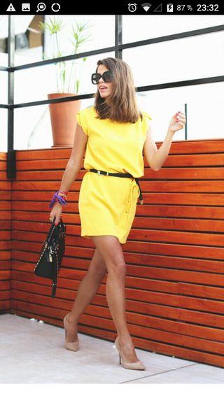 vestido amarillo nuevo