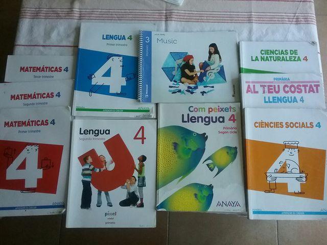Libros de texto cuarto de primaria anaya y edebe de segunda mano por ...