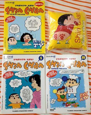 Comics Shin Chan del 1 al 50 + Especial+ Cojín