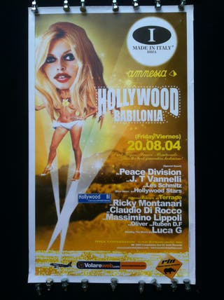 4 pósters Amnesia Ibiza 2004
