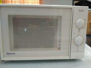 Microondas Superser 21l con grill. 850w+1000w