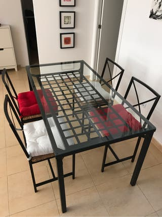 Mesa 4 sillas de segunda mano por 120 en campos wallapop for Wallapop mesas