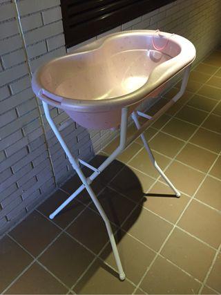 bañera bebe patas rosa