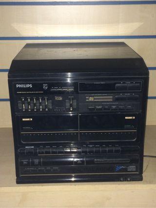 Radio cassette con tocadiscos