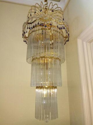 lampara de cristal preciosa
