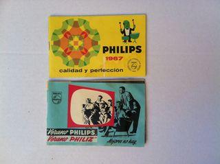 2 catalogos Philips 1966 y 1967