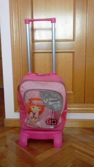 carrito escolar con mochila