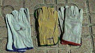guantes de cuero de trabajo