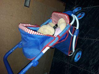 Carrito de paseo bebe para muñecos