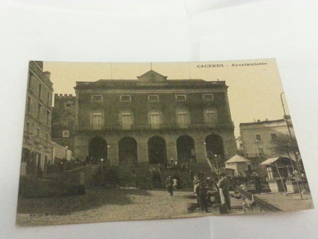 Postal Cáceres Ayuntamiento .