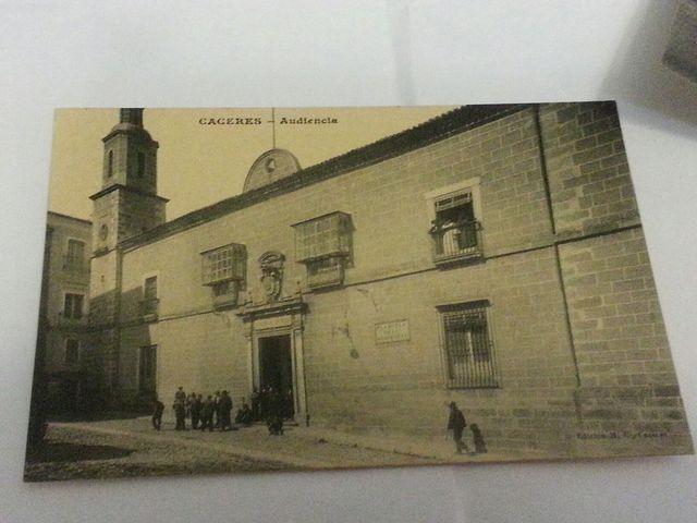 Postal Cáceres Audiencia.