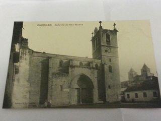 Postal Cáceres Iglesia de Santa maría