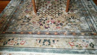 Preciosa alfombra de seda auténtica