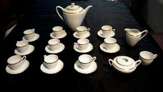 Porcelana checoslovaca, juego de café